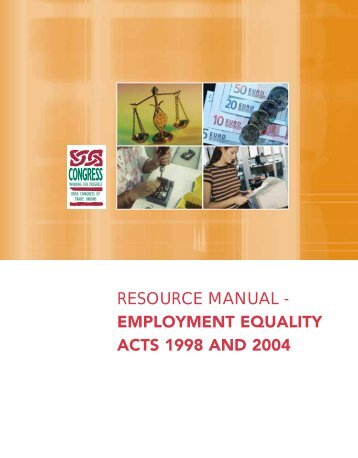employment equality acts 1998 and 2004 - Irish Congress of Trade ...