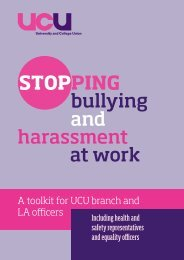 bullying and harassment at work - UCU