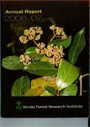 2006-07 - Kerala Forest Research Institute