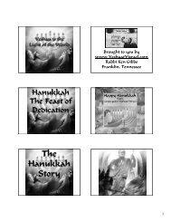 Hanukkah - Congregation Yeshuat Yisrael