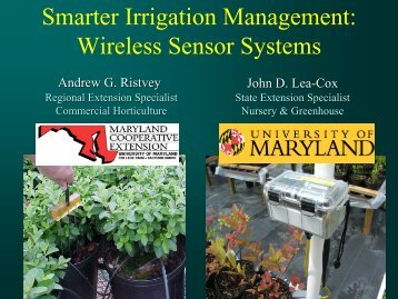 Smarter Irrigation Management: Wireless Sensor Systems