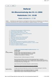 SU-Økonomiudvalg den 2006-11-01 - Billund Kommune