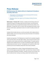 KLM becomes the latest airline to implement Amadeus Ancillary ...