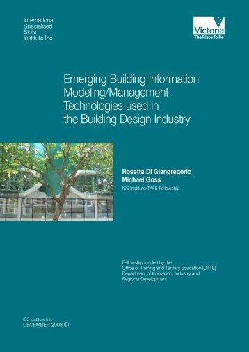 Emerging Building Information Modeling/Management Technologies ...