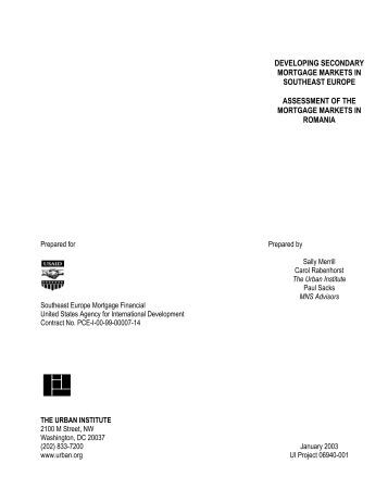 ACKNOWLEDGEMENTS - Central and Eastern Europe Mortgage ...