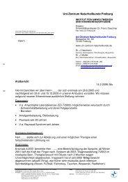 Uni-Zentrum Naturheilkunde Freiburg - Amalgam Informationen
