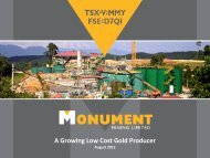 A Growing Low Cost Gold Producer - GOLDINVEST.de