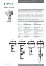 Pneumatic diaphragm actuator Model 20 - Pentair