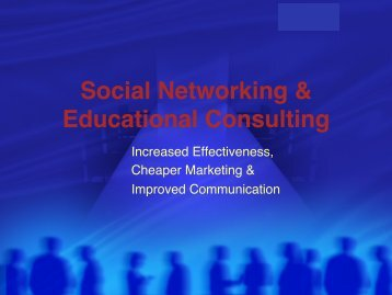 Social Networking & Educational Consulting - IECA