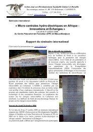 « Micro centrales hydro-électriques en Afrique - Innovations ... - RIAED