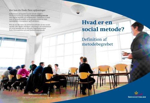 Hvad er en social metode? - Socialstyrelsen