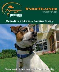 SportDog SD-105 Manual - Dog Training Collars