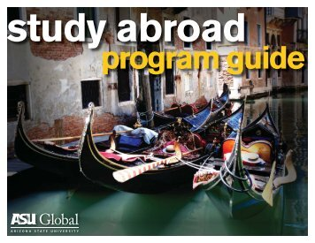 Study Abroad Program Guide COVER 4-13-09 ... - ASU International