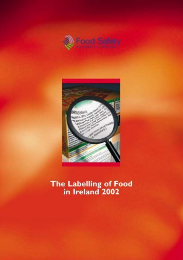 The Labelling of Food in Ireland 2002 - Irish Health Repository