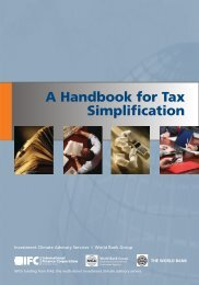 A Handbook for Tax Simplification - Investment Climate