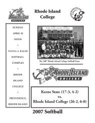 Game Program - Rhode Island College Athletics