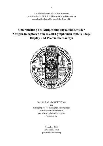 Untersuchung des Antigenbindungsverhaltens der Antigen ...