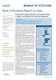 Bank of Scotland Report on Jobs - Hudson