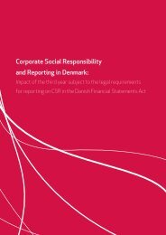 Corporate Social Responsibility and Reporting in Denmark: - CSRgov