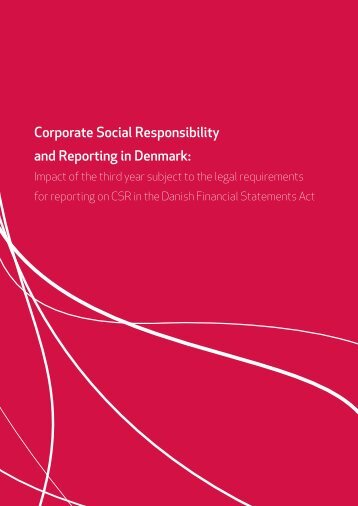 Corporate Social Responsibility and Reporting in Denmark: - CSRgov