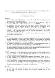 Oggetto: Variante al P.R.G. per la realizzazione ... - Comune di Siena