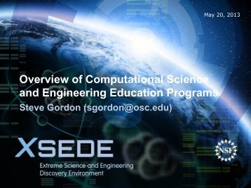 Computational Science Overview