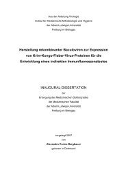Herstellung rekombinanter Baculoviren zur Expression von Krim ...