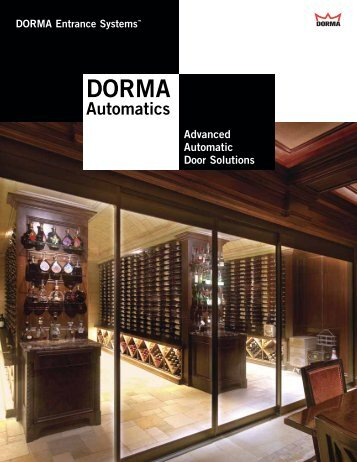DORMA Automatics - RTI Hotel Supply