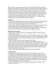 Tuition Reimbursement Overview