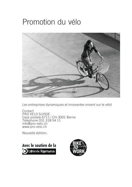 "Toolbox ""Promotion du vélo en entreprise"" - Bike to work"
