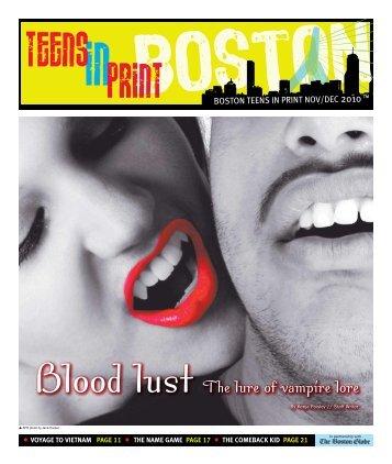 Blood lust The lure of vampire lore - Teens in Print
