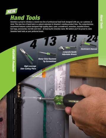 Greenlee Hand Tools Catalog