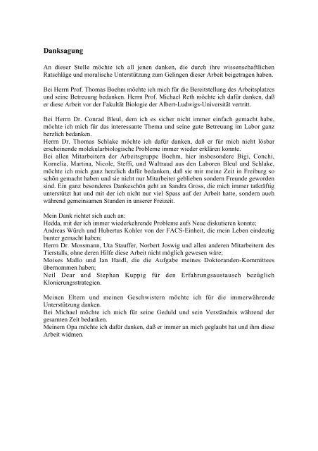 Identifikation und Charakterisierung von im Thymus exprimierten ...