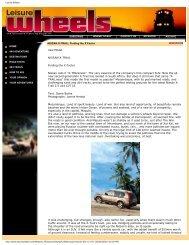 Leisure Wheels - Australian Nissan X-Trail Forum and Store