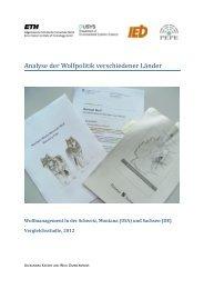 Analyse der Wolfpolitik verschiedener La nder - ETH E-Collection ...