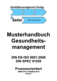 Musterhandbuch Gesundheits- management