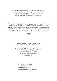 Gestörte Expression von CD86 und ein verändertes ...