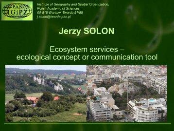 Ecosystem Services - spa-ce.net