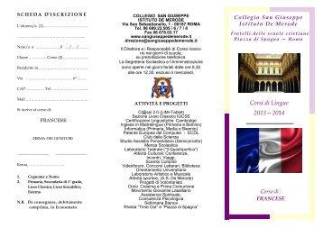 Corsi di Lingue 2013—2014 - Collegio San Giuseppe - Istituto De ...