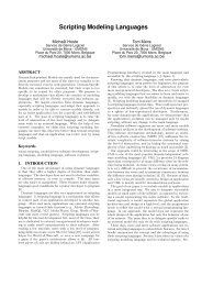 Scripting Modeling Languages