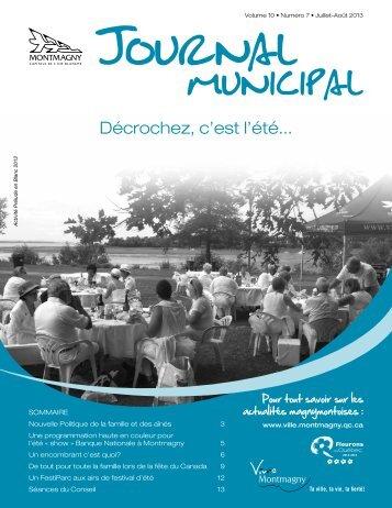 Juillet-Août 2013 - Ville de Montmagny