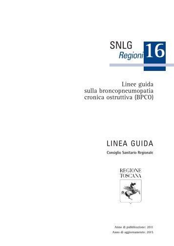 Linee guida sulla broncopneumopatia cronica ostruttiva ... - SNLG-ISS