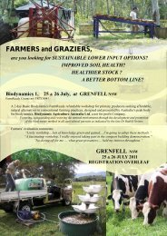 FARMERS and GRAZIERS, - Biodynamic Agriculture Australia