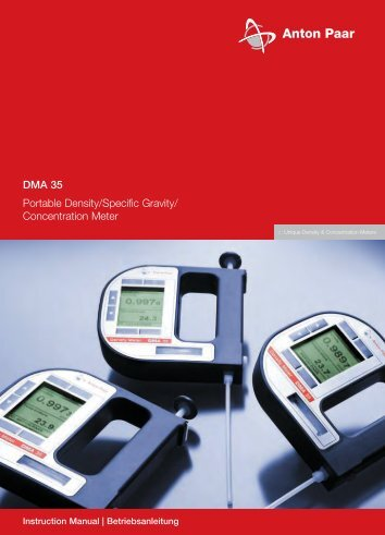 DMA 35 Portable Density/Specific Gravity/ Concentration Meter - Alber