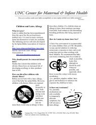 Children and Latex Allergy - UNC Center for Maternal & Infant Health