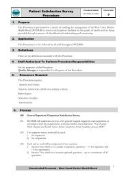 Patient Satisfaction Survey Procedure - West Coast District Health ...
