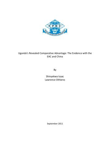 Uganda's Revealed Comparative Advantage: The Evidence with the ...