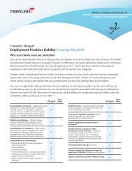 Travelers Wrap Employment Practices Liability Coverage Checklist