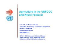 Agriculture in the UNFCCC and Kyoto Protocol - International Food ...