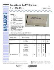 Broadband CATV Diplexer 5 – 1000 MHz - Richardson RFPD